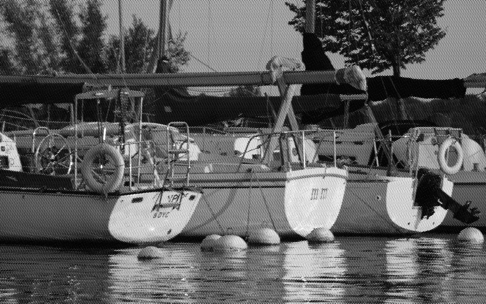 Boats at berth, tucked in for the evening. Baie d'Urfe Yacht CLub, 2018.